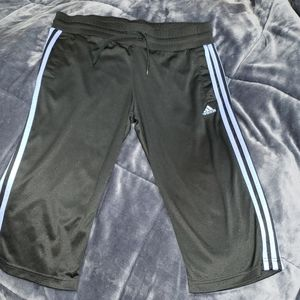 Adidas Capris Pants with Pockets Blue Stripes